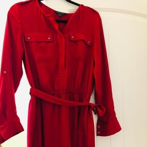 Hardly worn Red, knee length work dress